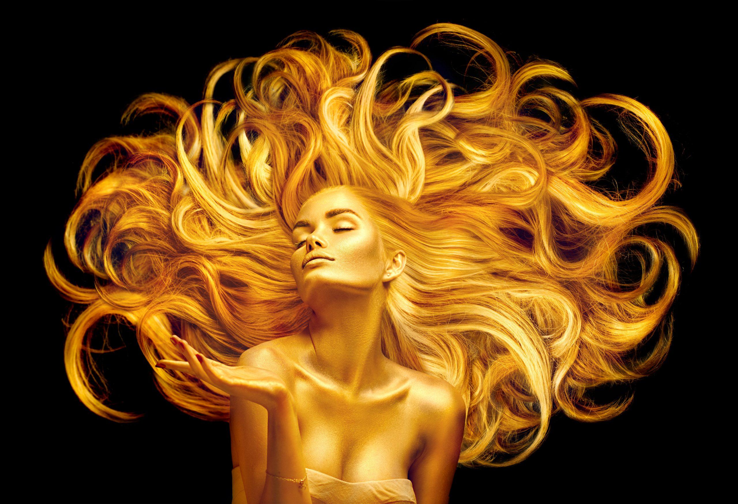 Golden Woman Black Background | Jack R. Hayes