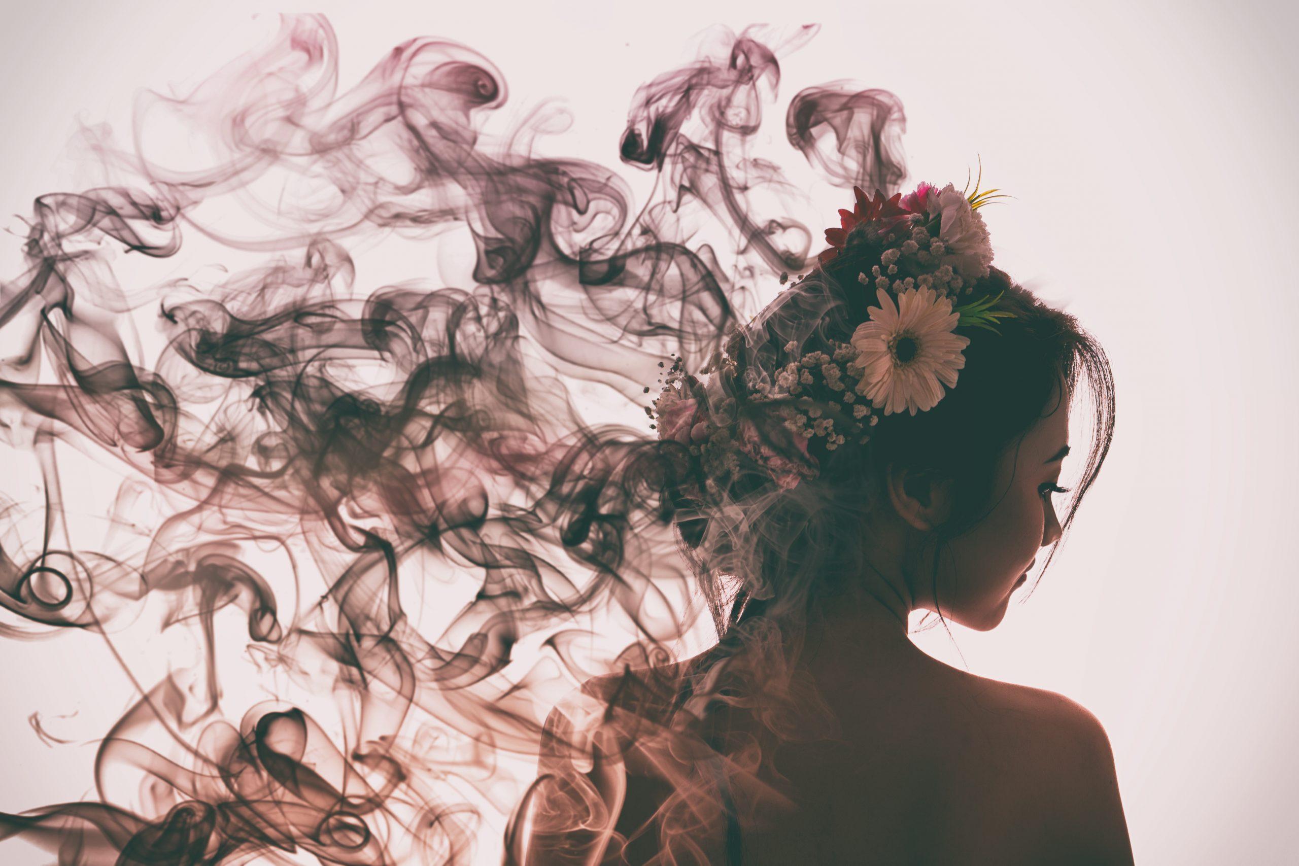 Woman goes up in parfum smoke | Jack R. Hayes
